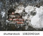 old ancient concrete wall....   Shutterstock . vector #1082040164