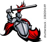 medieval knight with sword and... | Shutterstock .eps vector #108204149