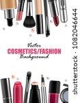 vector makeup products... | Shutterstock .eps vector #1082046644