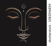 Buddha Face Vector Art....
