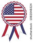 usa award ribbon vector in the... | Shutterstock .eps vector #1082048324