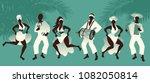group of men and women dancing... | Shutterstock .eps vector #1082050814
