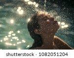 beauty of woman is moisturized... | Shutterstock . vector #1082051204