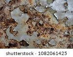 metal texture with scratches...   Shutterstock . vector #1082061425