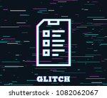 glitch effect. checklist...