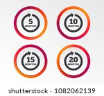 every 5  10  15 and 20 minutes...   Shutterstock .eps vector #1082062139