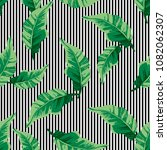 tropical seamless pattern with... | Shutterstock .eps vector #1082062307