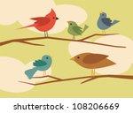 vector bird set 1 | Shutterstock .eps vector #108206669