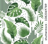 tropical seamless pattern with... | Shutterstock .eps vector #1082069789