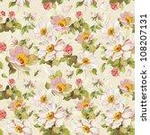 elegance seamless flowers... | Shutterstock .eps vector #108207131