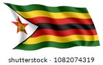 zimbabwe flag. isolated... | Shutterstock .eps vector #1082074319