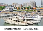 Downtown Montreal Waterfront in Quebec, Canada - stock photo