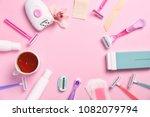 set for epilation on color... | Shutterstock . vector #1082079794