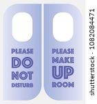 please do not disturb  please... | Shutterstock .eps vector #1082084471