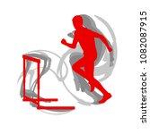 hurdling man race vector... | Shutterstock .eps vector #1082087915
