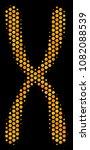 halftone hexagon chromosome... | Shutterstock .eps vector #1082088539