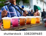 beverage colorful drinks on the ...   Shutterstock . vector #1082089685