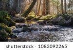morning sunrise on river over... | Shutterstock . vector #1082092265