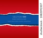 vector realistic red and blue... | Shutterstock .eps vector #1082092337