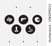 set of 5 game icons set.... | Shutterstock .eps vector #1082098211