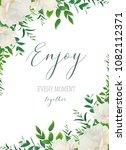 vector watercolor floral... | Shutterstock .eps vector #1082112371