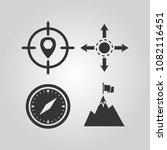 navigation icons set | Shutterstock .eps vector #1082116451
