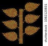 halftone hexagon flora plant...   Shutterstock .eps vector #1082120831