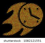 halftone hexagon fire deadline... | Shutterstock .eps vector #1082121551