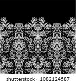 horizontally seamless black... | Shutterstock . vector #1082124587