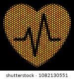 halftone hexagonal cardiology... | Shutterstock .eps vector #1082130551