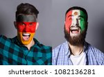 emotional soccer fans with... | Shutterstock . vector #1082136281