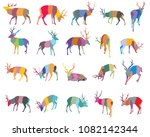 set of colorful mosaic vector... | Shutterstock .eps vector #1082142344