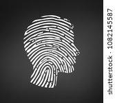 symbol fingerprint head  white... | Shutterstock .eps vector #1082145587