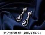 two golden sapphire earrings... | Shutterstock . vector #1082150717