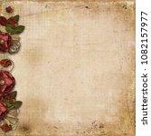 grunge background with burgundy ... | Shutterstock . vector #1082157977