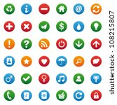 round icons | Shutterstock .eps vector #108215807