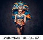 studio portrait of a sexy... | Shutterstock . vector #1082162165