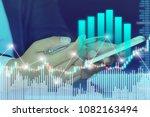 businessman on digital stock...   Shutterstock . vector #1082163494
