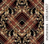 baroque embroidery striped... | Shutterstock .eps vector #1082164217