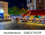 typical night view of cozy...   Shutterstock . vector #1082174159