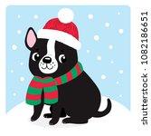 cute french bulldog puppy | Shutterstock .eps vector #1082186651