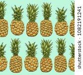 pineapples seamless pattern....   Shutterstock .eps vector #1082191241