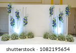 wedding backdrop with flower... | Shutterstock . vector #1082195654