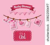 baby shower celebration | Shutterstock .eps vector #1082200697
