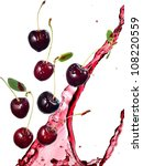 cherries and cherry juice splash | Shutterstock . vector #108220559