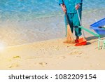 low section portrait of a beach ... | Shutterstock . vector #1082209154