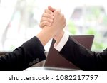 two hand up of people working... | Shutterstock . vector #1082217797