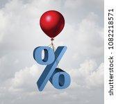 rising interest rates finance... | Shutterstock . vector #1082218571