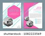 abstract minimal geometric... | Shutterstock .eps vector #1082223569