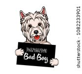 west highland white terrier bad ... | Shutterstock .eps vector #1082233901